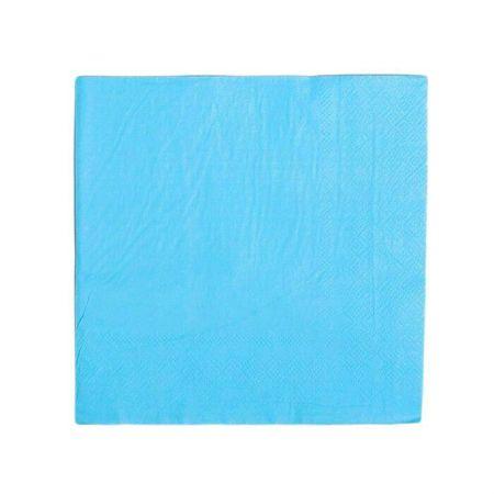 Kraftika Papír szalvéták, sima, 33x33 cm, 20 db-os készlet., kék szín