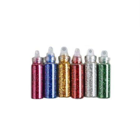 """Kraftika Glitter készlet 6 palack """"shine"""""""