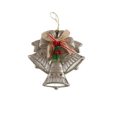 """Kraftika """"trzy dzwon w sercach i dzwony"""" dekoracje noworoczne"""
