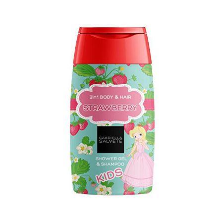 Gabriella Salvete Otroški gel za prhanje 2 v 1 Strawberry (Shower Gel 2in1 Body & Hair ) gel za prhanje 2 v 1 za (Show