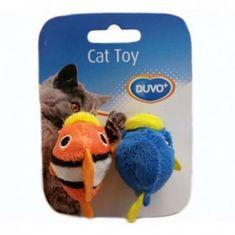 Duvo+ Plyšová hračka pro kočky 7,5x9x3,5cm ryba 2ks