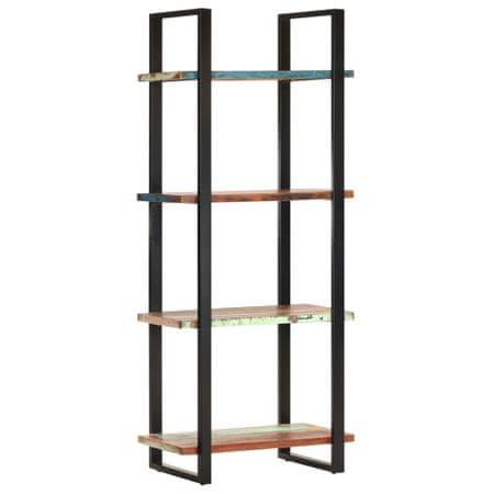 shumee 4 szintes tömör újrahasznosított fa könyvespolc 80x40x180 cm
