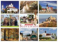 tvorme veľká pohľadnica (A5) - Slovensko, pamiatky UNESCO