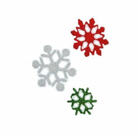 """Kraftika 2 przedstawia, naklejki na szkło """"płatki śniegu"""" 9,5 cm"""