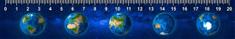 mapcards.net 3D pravítko Continents (Zem)