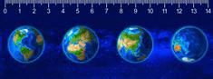 mapcards.net 3D pravítko Continents DEEP
