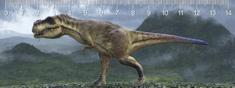 mapcards.net 3D pravítko T-rex walk DEEP