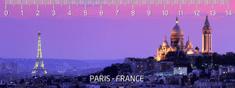 mapcards.net 3D pravítko Paris (Paríž) DEEP