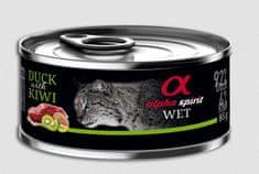 Alpha Spirit mokra hrana za mačke, patka i kivi, 85 g
