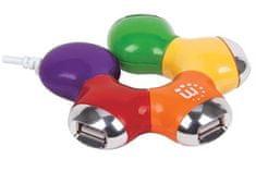 Manhattan Cvjetni USB čvor (čvorište), 4 priključka