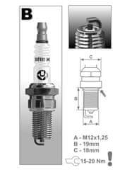 Brisk zapalovací svíčka B10C řada Super