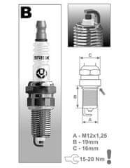 Brisk zapalovací svíčka BR12YC-9 řada Super