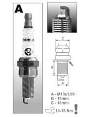Brisk zapalovací svíčka AR12YS řada Silver