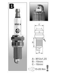 Brisk zapalovací svíčka BR12YP řada Platin
