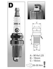 Brisk zapalovací svíčka DR15YC řada Super