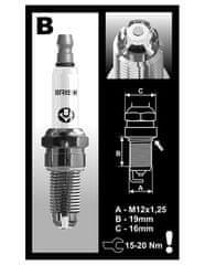 Brisk zapalovací svíčka BOR12LGS řada PREMIUM LGS RACING