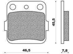 Newfren brzdové destičky FD0078SD, (směs OFF ROAD DIRT SINTERED) 2 ks v balení