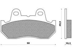 Newfren brzdové destičky FD0054BT, (směs ROAD TOURING ORGANIC) 2 ks v balení