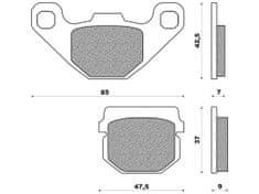 Newfren brzdové destičky FD0085BD, (směs OFF ROAD DIRT ORGANIC) 2 ks v balení