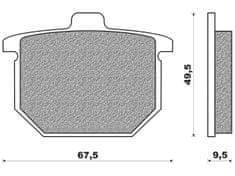 Newfren brzdové destičky FD0016BT, (směs ROAD TOURING ORGANIC) 2 ks v balení