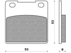 Newfren brzdové destičky FD0086, (organická směs) 2 ks v balení