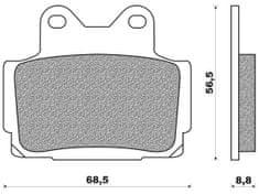 Newfren brzdové destičky FD0082BR, (organická směs) 2 ks v balení
