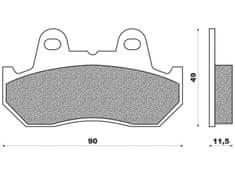 Newfren brzdové destičky FD0084, (organická směs) 2 ks v balení