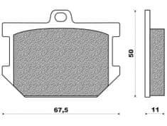 Newfren brzdové destičky FD0017BT, (směs ROAD TOURING ORGANIC) 2 ks v balení