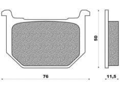 Newfren brzdové destičky FD0046BT, (směs ROAD TOURING ORGANIC) 2 ks v balení