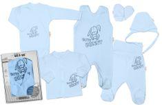 Baby Nellys Velká sada do porodnice CUTE BUNNY, 6-ti dílná v krabičce - modrá