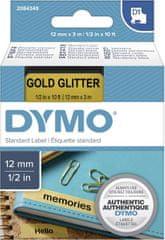 Dymo D1 traka, 12 mm x 3 m, crno / Zlatna