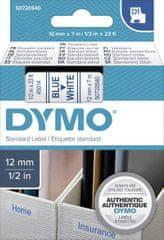 Dymo D1 traka, 12 mm x 7 m, bijela / plava