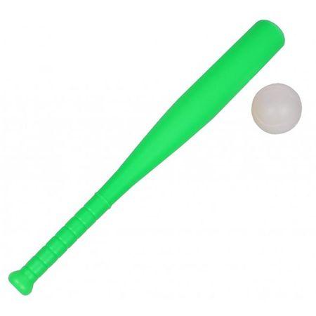 Merco palica + loptica za baseball, plastični, zelena