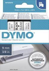 Dymo D1 409100 traka, 9 mm x 7 m, crna / prozirna