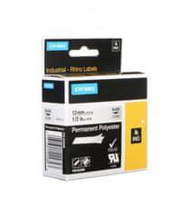 Dymo Rhino 622289 traka, 12mm x 5,5m, crno / prozirna, trajni poliester