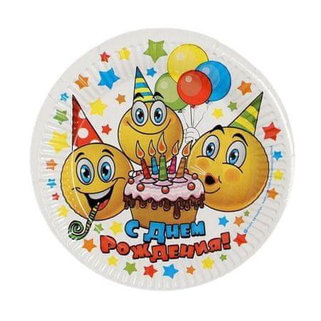 """Kraftika Zestaw talerzy papierowych """"happy birthday"""""""