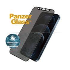 PanzerGlass Edge-to-Edge Privacy Antibacterial zaščitno steklo za Apple iPhone 12 Pro Max se Swarowski CamSlider P2718, črno