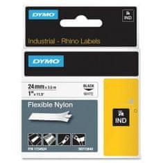 Dymo Rhino 1734524 traka, 24mm x 3,5m, crno / bijela, trajni poliester