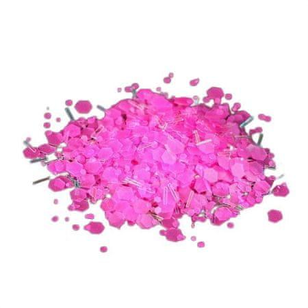 Kraftika 5 szt., kamifubuki/okruchy do dekoracji, kolor różowy