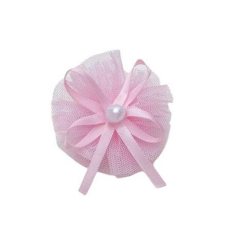 """Kraftika 6 szt, spinka do włosów """"ballerina"""" łuk z koralikami, różowy"""