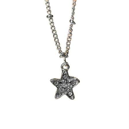 """Kraftika Újévi medál"""" előrejelzés """"csillag, fehér színű ezüst, 45 cm"""
