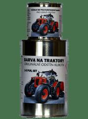 BARVY NA TRAKTORY  KUBOTA originální ORANŽOVÁ 2-K PUR barva, SET s tužidlem lesklé
