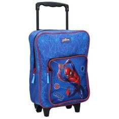 """Vadobag Chlapčenská školská taška na kolieskach """"Spider-man - Protector""""- modrá"""