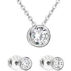 Evolution Group Sada šperků se zirkonem náušnice a náhrdelník 19007.1 stříbro 925/1000