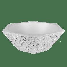 Naïf design Betonová dekorační mísa HEX, průměr 30cm, výška 12,7 cm, barevnost světle šedá