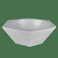 Naïf design Betonová dekorační mísa HEX, průměr 30cm, výška 12,7 cm, barevnost šedá