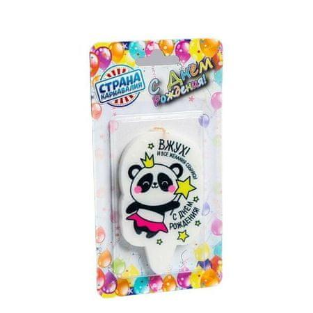 """Kraftika Gyertya torta """"boldog születésnapot, panda vzhukh!"""