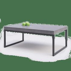 Naïf design Betonový konferenční stolek s kovovou podnoží