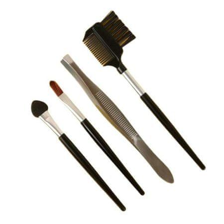 Kraftika Sminkkészlet, 4 elem, fekete / ezüst szín