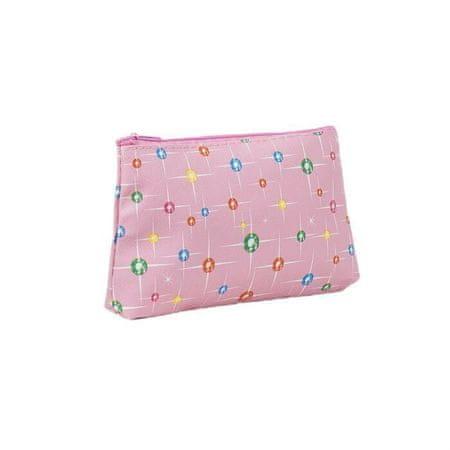Kraftika Prosty kosmetyczne, zamek, kolor różowy, 4608506